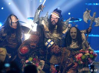 El grupo Lordi: los monstruos también saben festejar.