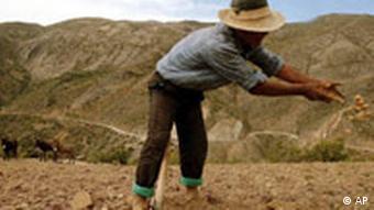 A farmer in Bolivia