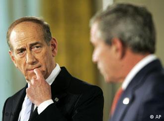 US-Präsident George W. Bush (r.) und Israels Ministerpräsident Ehud Olmert
