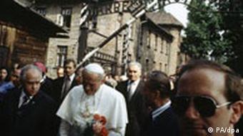 Papst Johannes Paul II. in Auschwitz