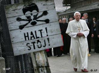 The pope met with former prisoners at Auschwitz