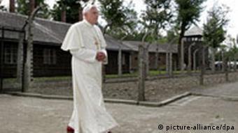 Papst Benedikt XVI in Ausschwitz