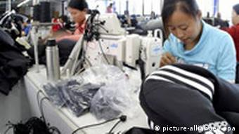 Produktion von adidas-Sportbekleidung in China