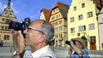 Turistas en Rothenburg.