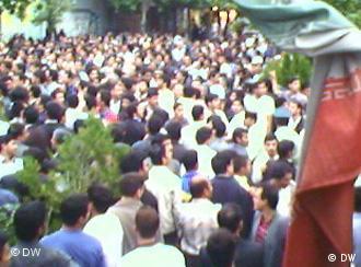 صحنهای او تجمع دانشجویان دانشگاه امیر کبیر