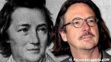 Kombo Fotomontage Heinrich Heine und Peter Handke