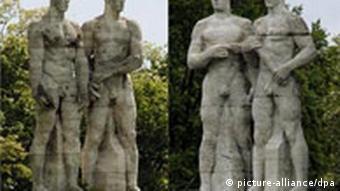 NS-Figuren vor dem Berliner Olympiastadion (Foto: dpa)