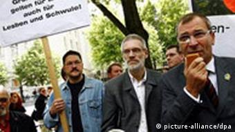 Schwulen und Lesben Demonstration gegen Gewalt in Moskau