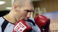 Der Boxer Nikolai Valuev aus Russland Porträt