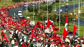 Brasilien Landlose Bauern Demonstration in Brasilia