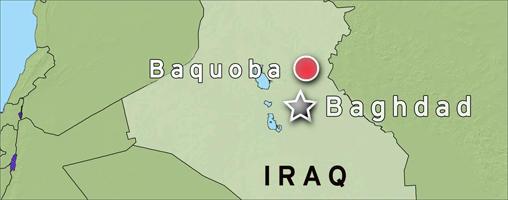 Karte Irak Bakuba Terrorchef Sarkawi bei Luftangriff getötet englisch