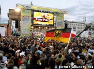 Fans had no trouble getting in to the spirit of the party in Berlin on Wednesday