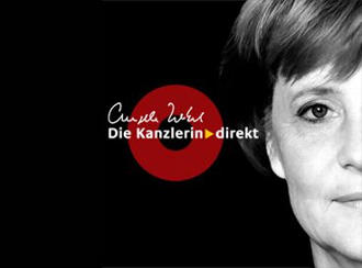 The new video iPod sensation has arrived: German Chancellor Angela Merkel
