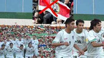 Logo der Kampagne iranischer Studenten gegen NPD-Aufmarsch für Ahmadinejad während WM