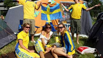 WM Bilder des Tages 09.06.2006 Schweden Fans