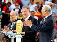 Blatter, Köhler y Beckenbauer.
