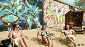 Beach bar at berlin wall
