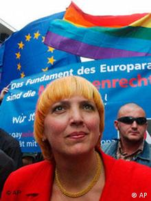 Schwulenparade in Warschau Claudia Roth