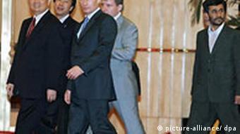 حضور احمدینژاد در اجلاس سازمان همکاریهای شانگهای در ژوئن ۲۰۰۶