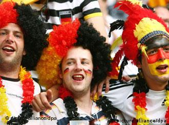 German fans celebrate during the 2006 soccer World Cup in Germany