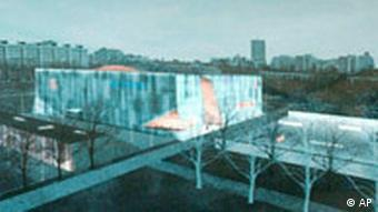 Rendering of a new Jewish museum in Warsaw