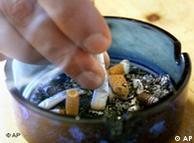 Окурки в пепельнице