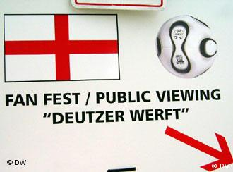 England's fans get their own spot outside the city center