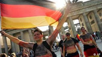 WM Fußball Deutschland Fans Fanmeile in Berlin