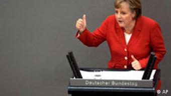 Haushaltsdebatte Bundestag Angela Merkel