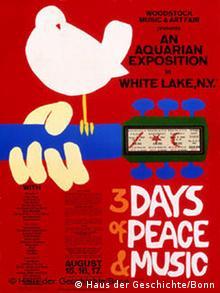 Plakat zum Woodstock-Festival 1967
