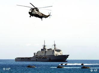 NATO's NRF rapid response force on exercises off the coast of Cape Verde