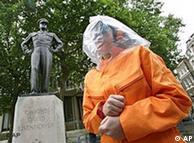 Manifestante contra la tortura en Londres.