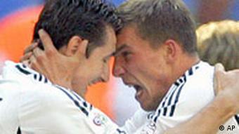 WM Fußball Deutschland Miroslav Klose und Lukas Podolski