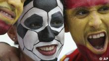 Fans look on prior to the start of the Spain vs France, Round of 16, World Cup 2006, soccer match at World Cup stadium in Hanover, Germany, on Tuesday, June 27, 2006. (AP Photo/Dusan Vranic) ** MOBILE/PDA USAGE OUT **