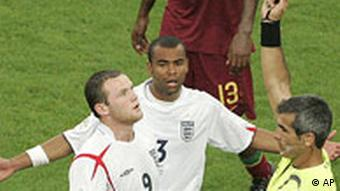 Fußball, WM 2006, England - Portugal, 01.07.2006, Rooney sieht rot