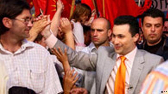 Wahlen in Mazedonien VMRO-DPMNE (AP)