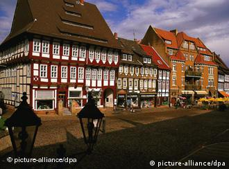 Half-timbered homes decorate the mountain villages