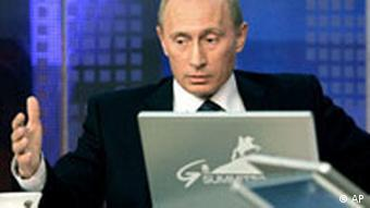 Wladimir Putin chattet im Internet vor G8 Gipfel in Sankt Petersburg