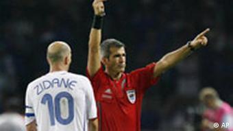 WM 2006 Finale Italien Frankreich Rot für Zidane