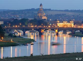 Dresden's skyline, rebuilt after WWII