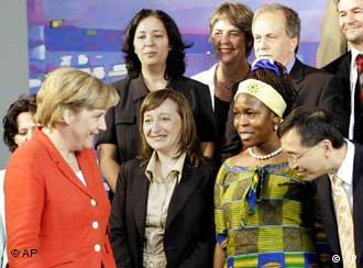 Merkel met with representatives of various immigrant communities