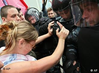 Contra el G8 en San Petesburgo.