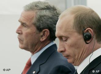 Президенты США и России: Джордж Буш и Владимир Путин