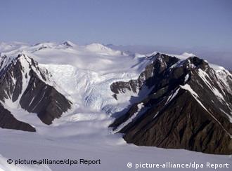 Ein Gletscher in der Antarktis