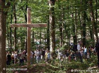 Una cruz en conmemoración del crimen de Heilbronn.