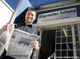 L'Allgemeine Zeitung se décrit comme un journal namibien en langue allemande.