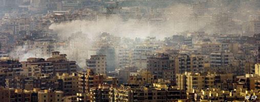 Suasana di Beirut selama perang