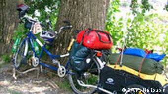 Fahrradtour am Rhein Tandem