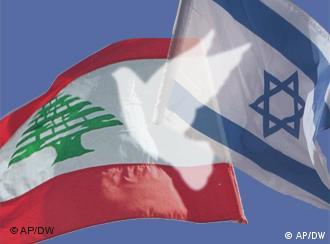 پرچمهای اسرائیل و لبنان