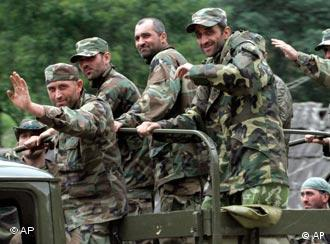 Georgian troops near Abkhazia